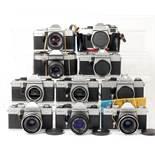 Ten Various Praktica Bodies & Lenses