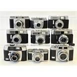 Group of Nine 35mm Cameras, Mostly Voigtlander.
