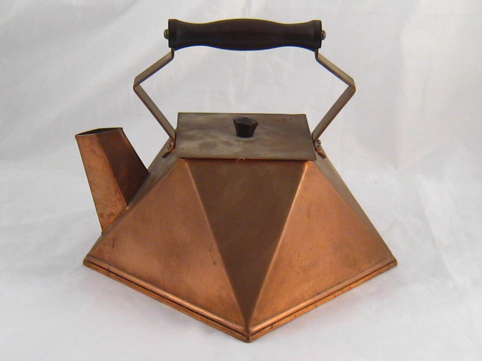 Lot 542 A Copper Kettle Of Square Geometric Design In The Manner Dr