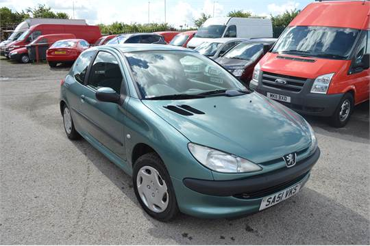 2001/51 plate peugeot 206 1.9 lx diesel, air conditioning, power