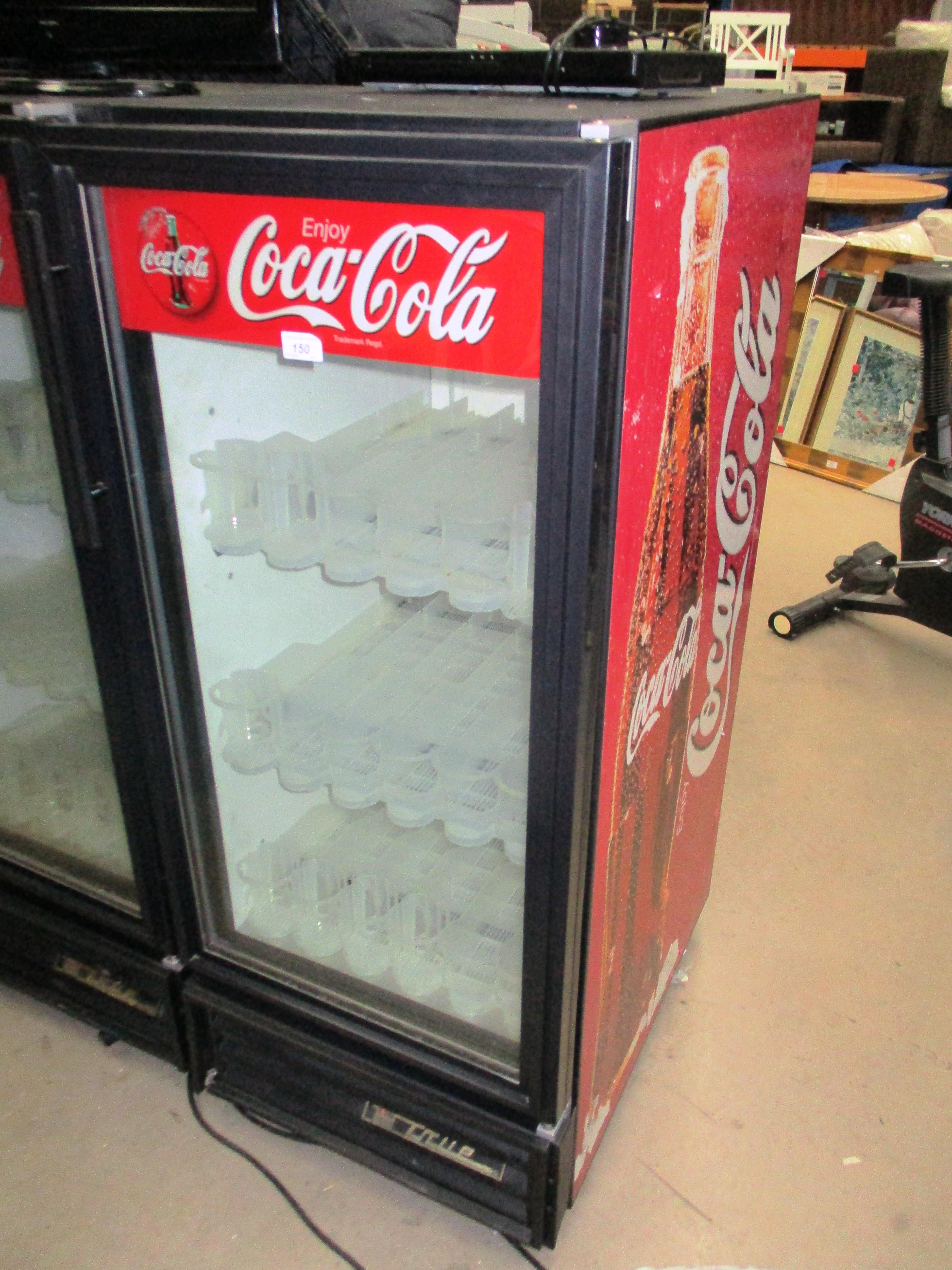 True Gdm 08n Single Door Glass Front Coca Cola Fridge