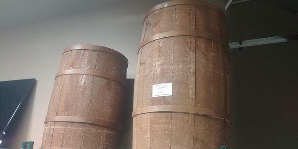 Lot 21 - 2 Wooden Display Barrels