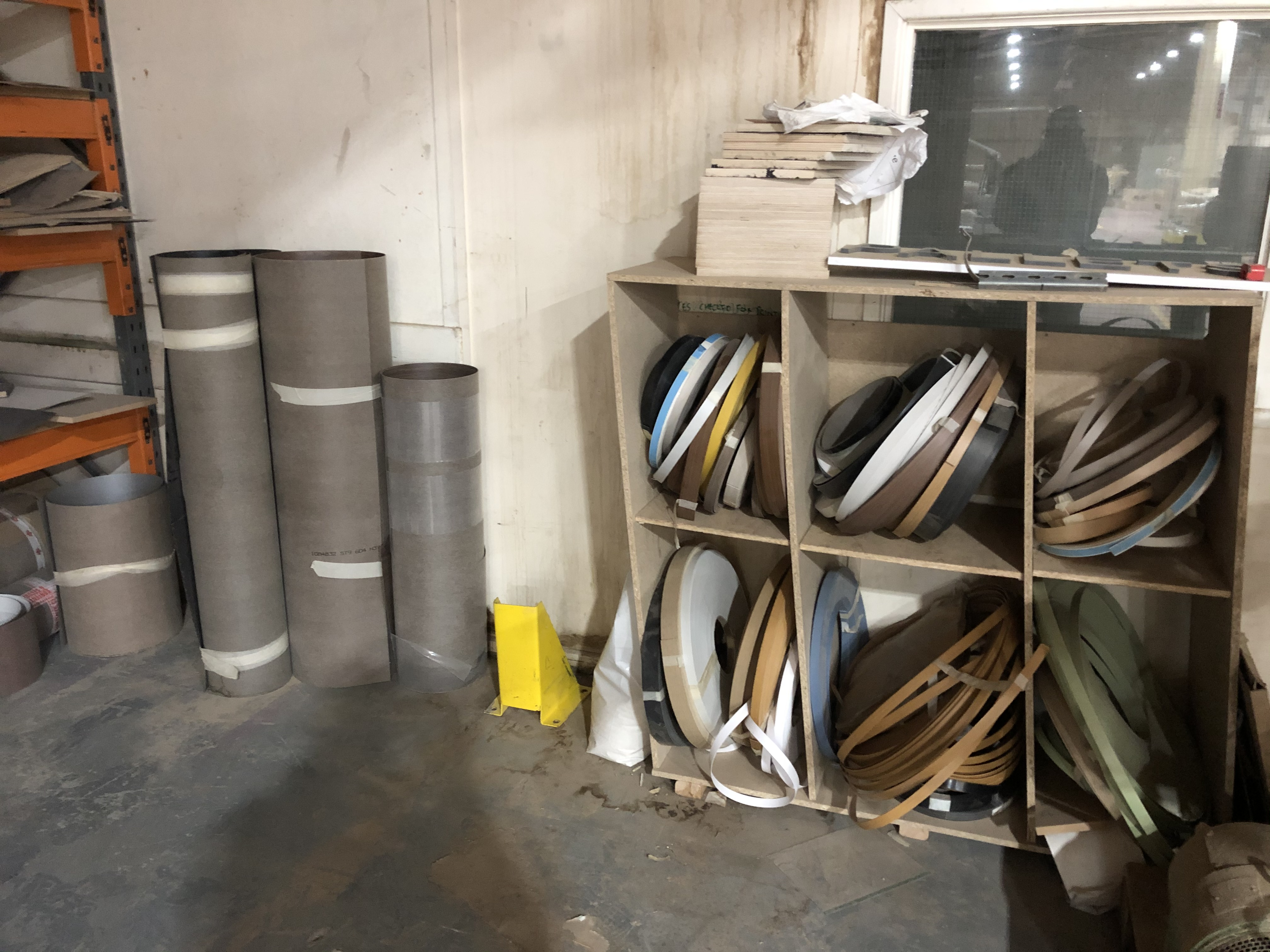 Lot 84 - Contents to The Rack Including Various Laminate Veneers and MDF, Chipboard