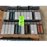 Qty 2 - Allen Bradley SLC500 racks with cards as pictured.
