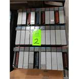 Qty 3 - Allen Bradley SLC500 racks with cards as pictured.