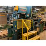 "EW BLISS C-45 GAP FRAME OBI PUNCH PRESS WITH 45 TON CAPACITY, 29""X17"" BED, INFEED CONVEYOR AND"