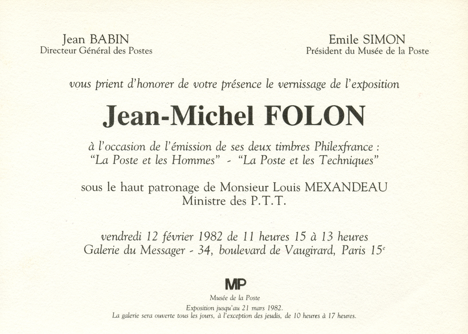 Lot 274 - FOLON JEAN-MICHEL: (1934-2005) Belgian A