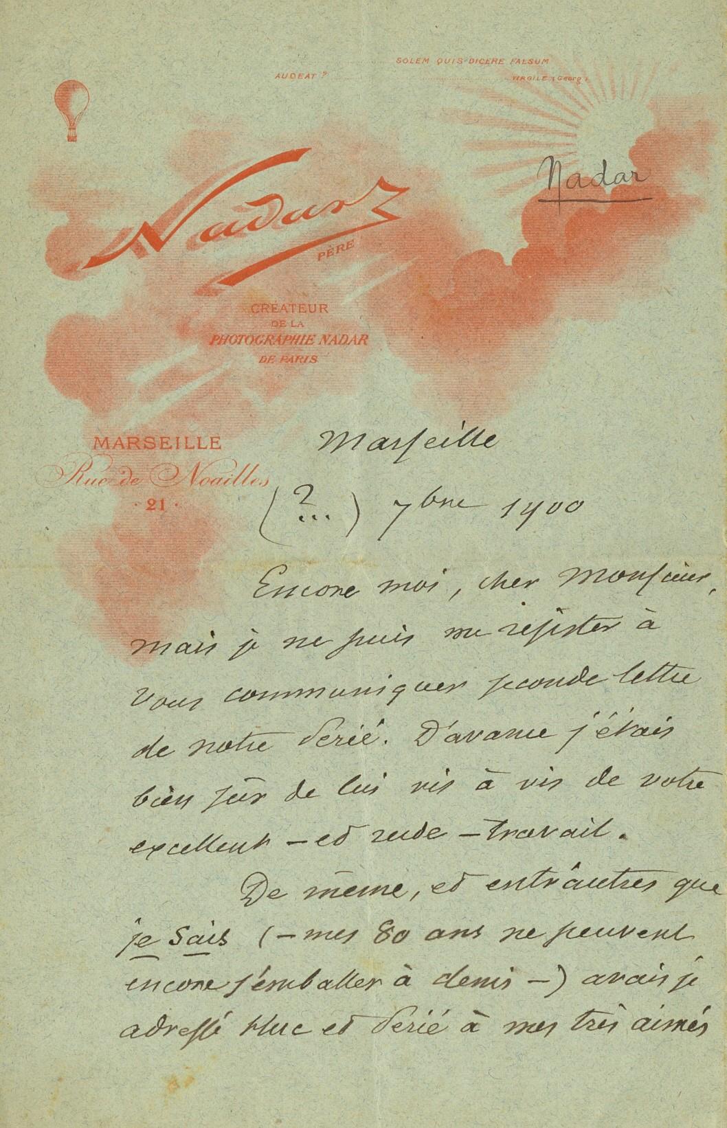Lot 230 - NADAR: (1820-1910) French Photographer,