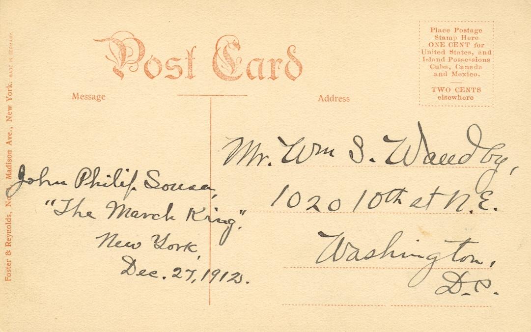 Lot 156 - SOUSA JOHN PHILIP: (1854-1932) American