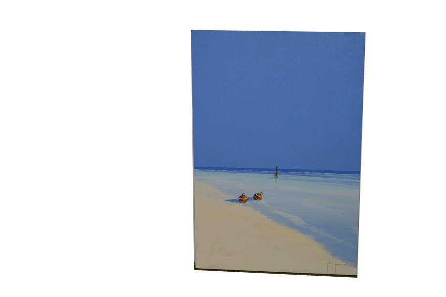 Lot 14 - An Oil Painting 'Beach Scene' - John Horsewell