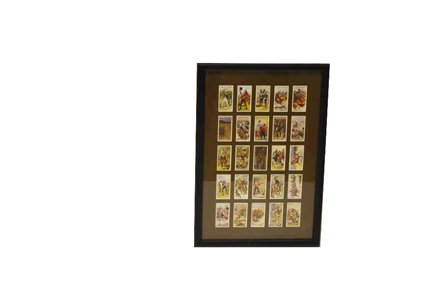 Lot 18 - A Framed Set of 25 Victoria Cross Players Cigarette Cards