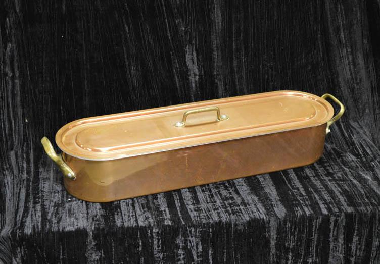Lot 28 - A Copper Fish Kettle