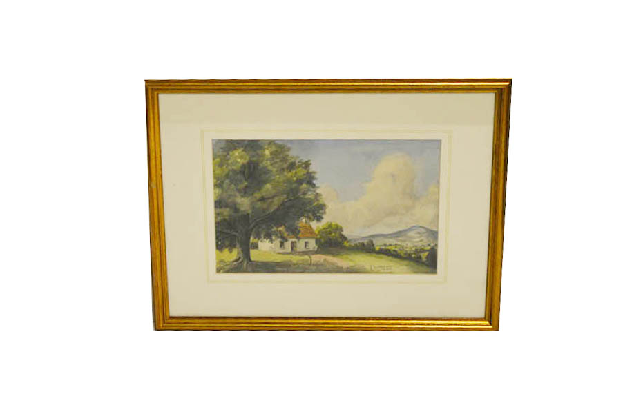 Lot 26 - A Watercolour 'In the Shade' - Jack Wilkinson