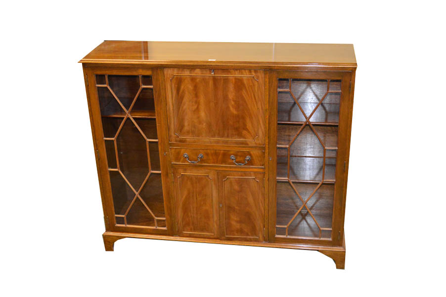 Lot 10 - A Mahogany Bureau Bookcase