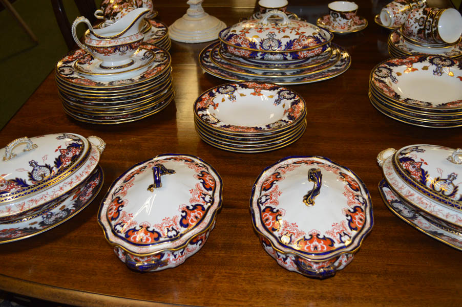 Lot 30 - A Very Large Matched Royal Crown Derby Dinner and Teaset