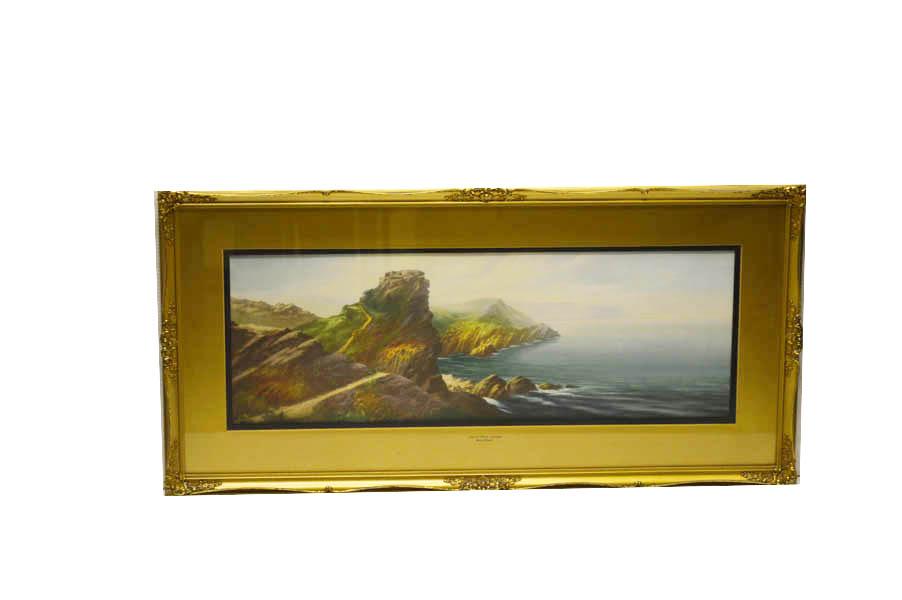 Lot 20 - An Oil Painting 'Castle Rock, Lyton' - Roland Stead