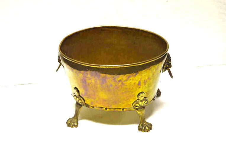 Lot 33 - A Good Brass Oval Coal Bucket