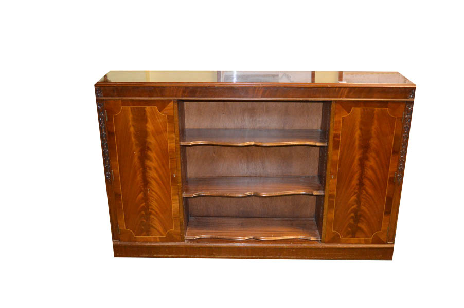 Lot 45 - An Inlaid Mahogany Bookcase and Cabinet