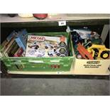 A quantity of toys, books and games.