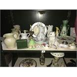 A good lot of china including Wedgewood, Aynsley, Royal Albert etc.