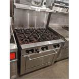 Sunfire 6 Burner Gas Range with Oven