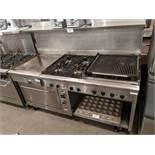 "Quest 6ft Gas Range with 24"" Char, 24"" Griddle, 4 Burners and Convection Oven"