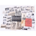 Lot 142 - Paybook & Photograph, Cecil Kimber 20 S/S Workshop, Service in North Africa with supporting