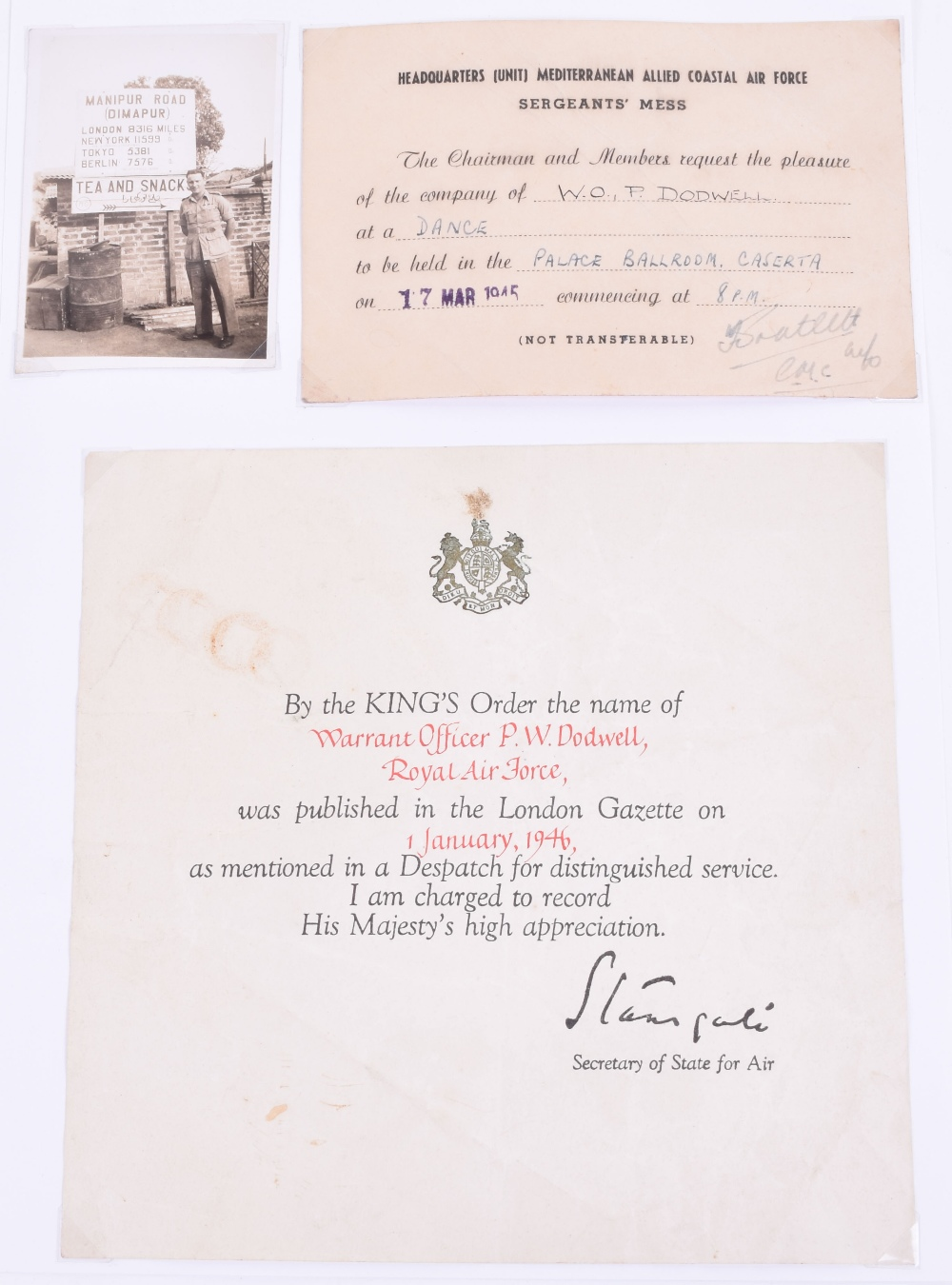 Lot 141 - WW2 Husband and Wife Military Paperwork, consisting of official documents and photographs relating