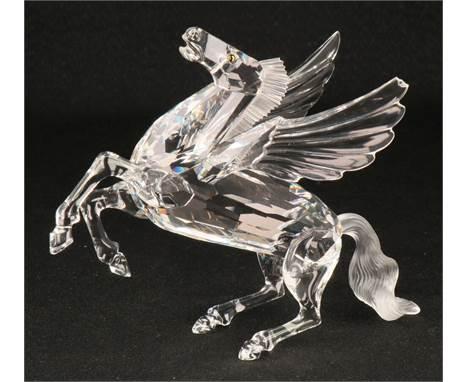 "Swarovski Annual item 1998 ""Fabulous Animal Kingdom"" the Pegasus In good condition with original box. Estimate: € 30 - € 80."