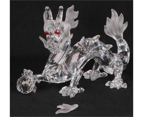 """Swarovski Annual item 1997 """"Fabulous animal kingdom"""" The Dragon This annual edition from 1997, '' Dragon '', is the second an"""