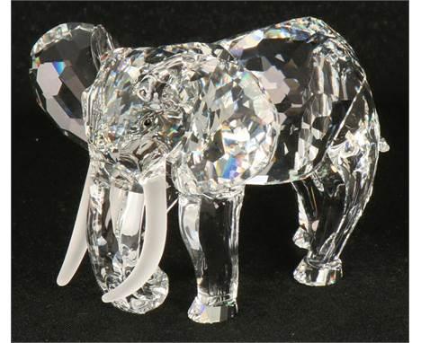 "Swarovski annual item 1993 ""inspiration Africa"" the Elephant First annual item in the Inspiration Africa series, the tusks"