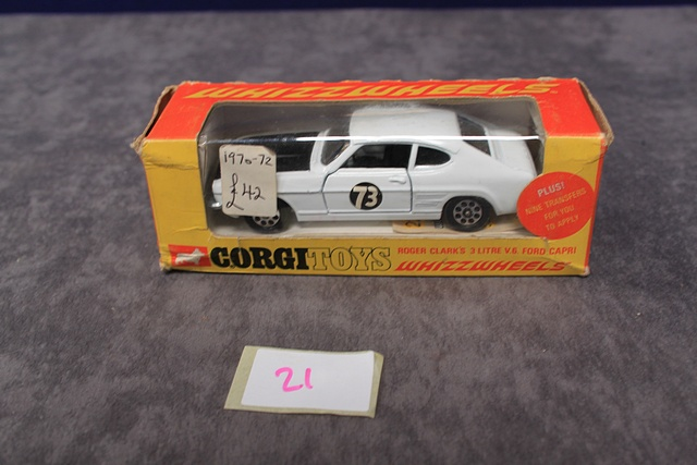 Corgi Whizzwheels Diecast 303 Roger Clark's 3 Litre V6 Ford Capri Number With Very Good Box - Image 2 of 4