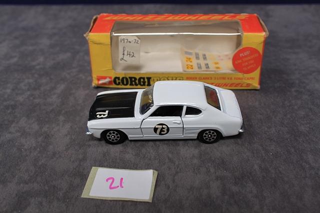 Corgi Whizzwheels Diecast 303 Roger Clark's 3 Litre V6 Ford Capri Number With Very Good Box