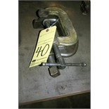 LOT OF C-CLAMPS, H.D., assorted