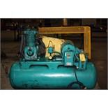 RECIPROCATING TYPE AIR COMPRESSOR, KELLOGG AMERICAN MDL. 340TVX, 7-1/2 HP motor