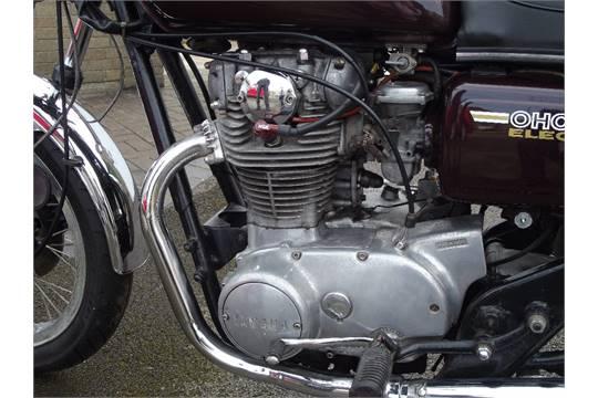 A 1979 Yamaha XS650, registration number CYE 203V, frame number