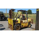 "HYSTER H80XL PROPANE FOR TRUCK (NEEDS REPAIR), 5000 LB CAP, 3 STAGE, 170"" LIFT, SOLID TIRES, (NO"