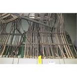 LARGE QTY OF ASST. TECH CABLE, COPPER WIRE, ETC. THROUGHOUT SITE TO INCLUDE: APPROX 200' OF TECH