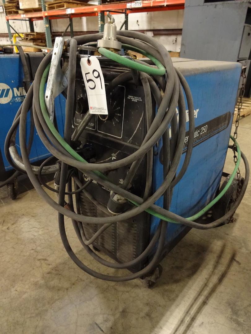 Miller 200 Amp Millermatic 250 CV-DC Arc Welding Power Source/Wire Feeder, S/N KG113145 (1996)