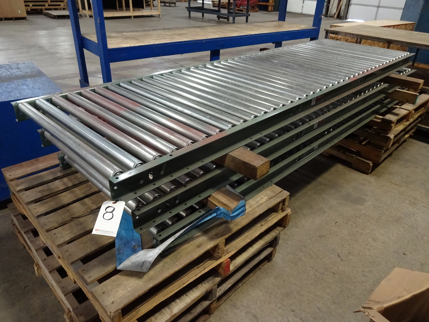 LOT: (3) 36 in. x 10 ft. Roller Conveyors
