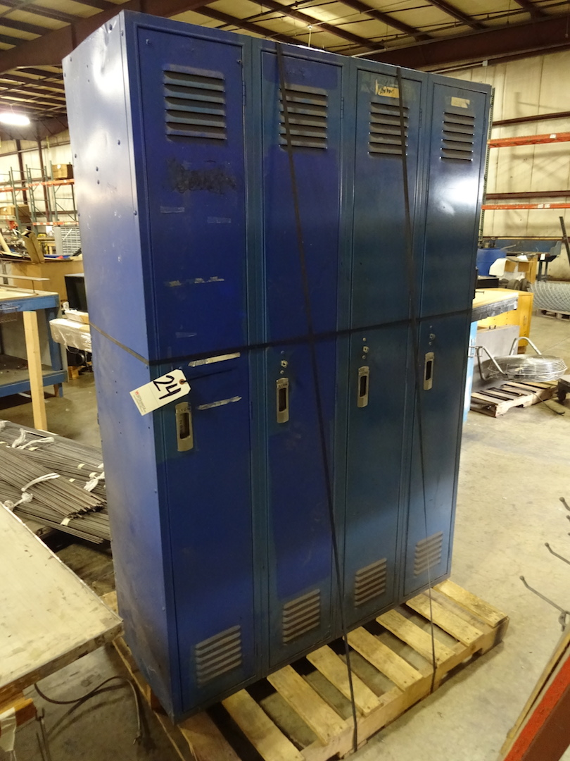 LOT: (2) Sections of 3-Door Lockers
