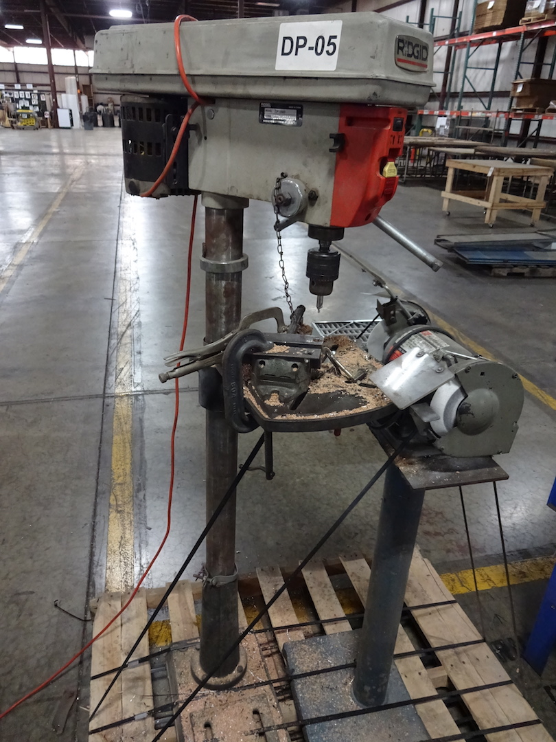 LOT: Ridgid Model DP15000 Drill Press, S/N 9821400046, 120 Volt, and Ace Hardware 6 in. Double End