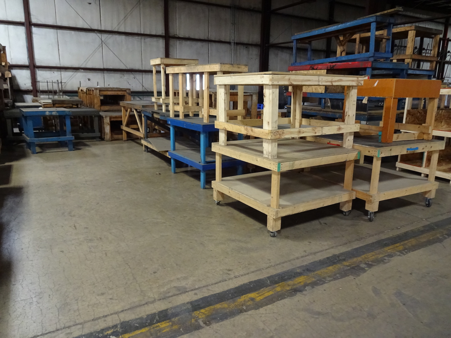 LOT: Assorted Wood Tables & Work Benches