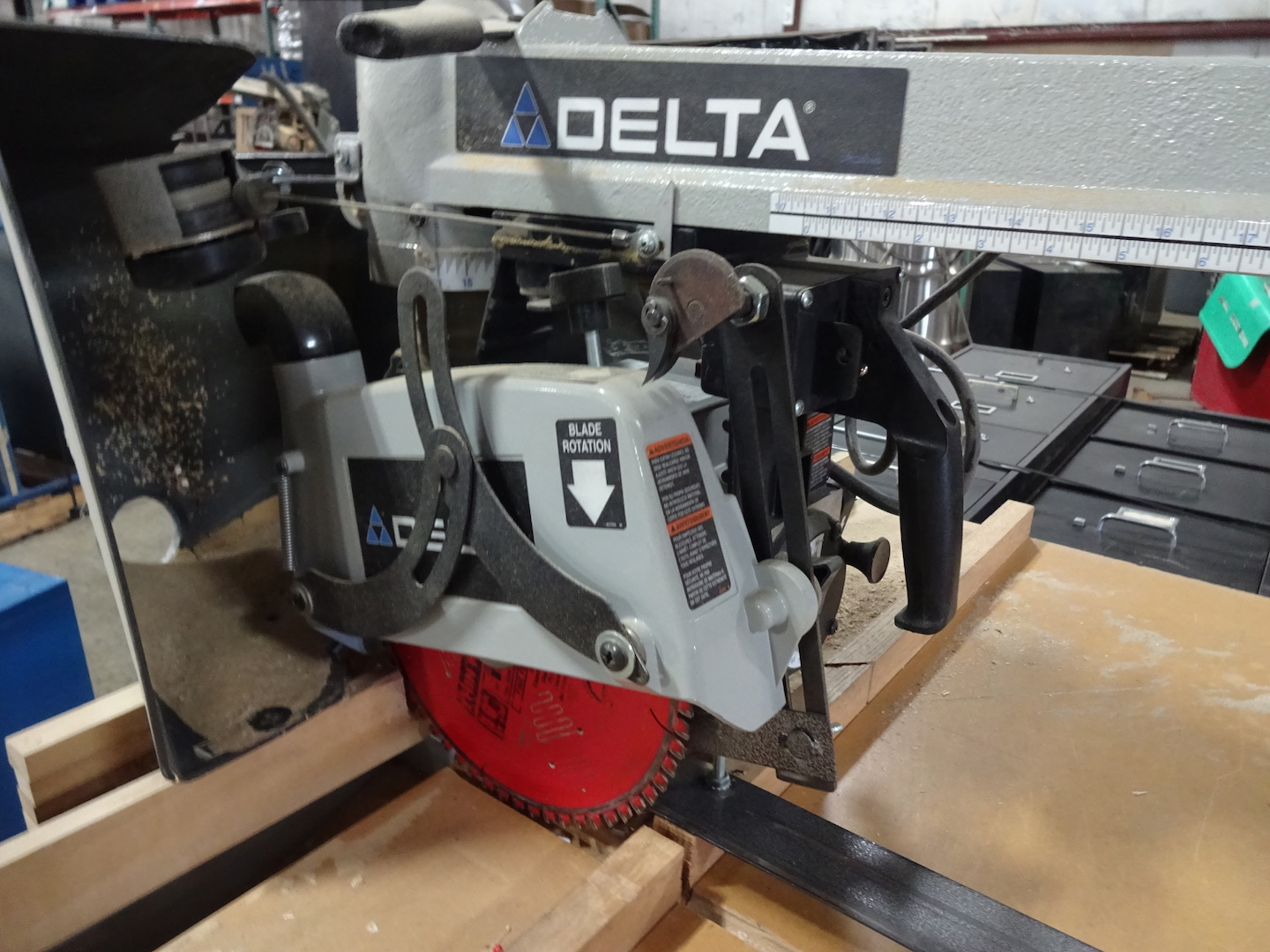 Delta 1-1/2 HP Radial Arm Cut-off Saw, S/N 12F 13906 2012 22-DP, 110 Volt - Image 3 of 3