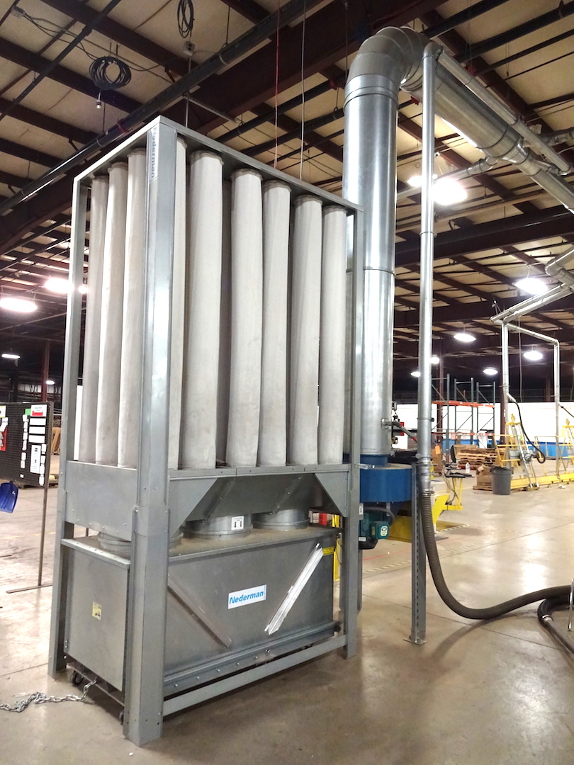 Nederman 10 HP Model NFP-S1000 Bag Type Dust Collector, S/N N112376-01 (2016), with Aluminum