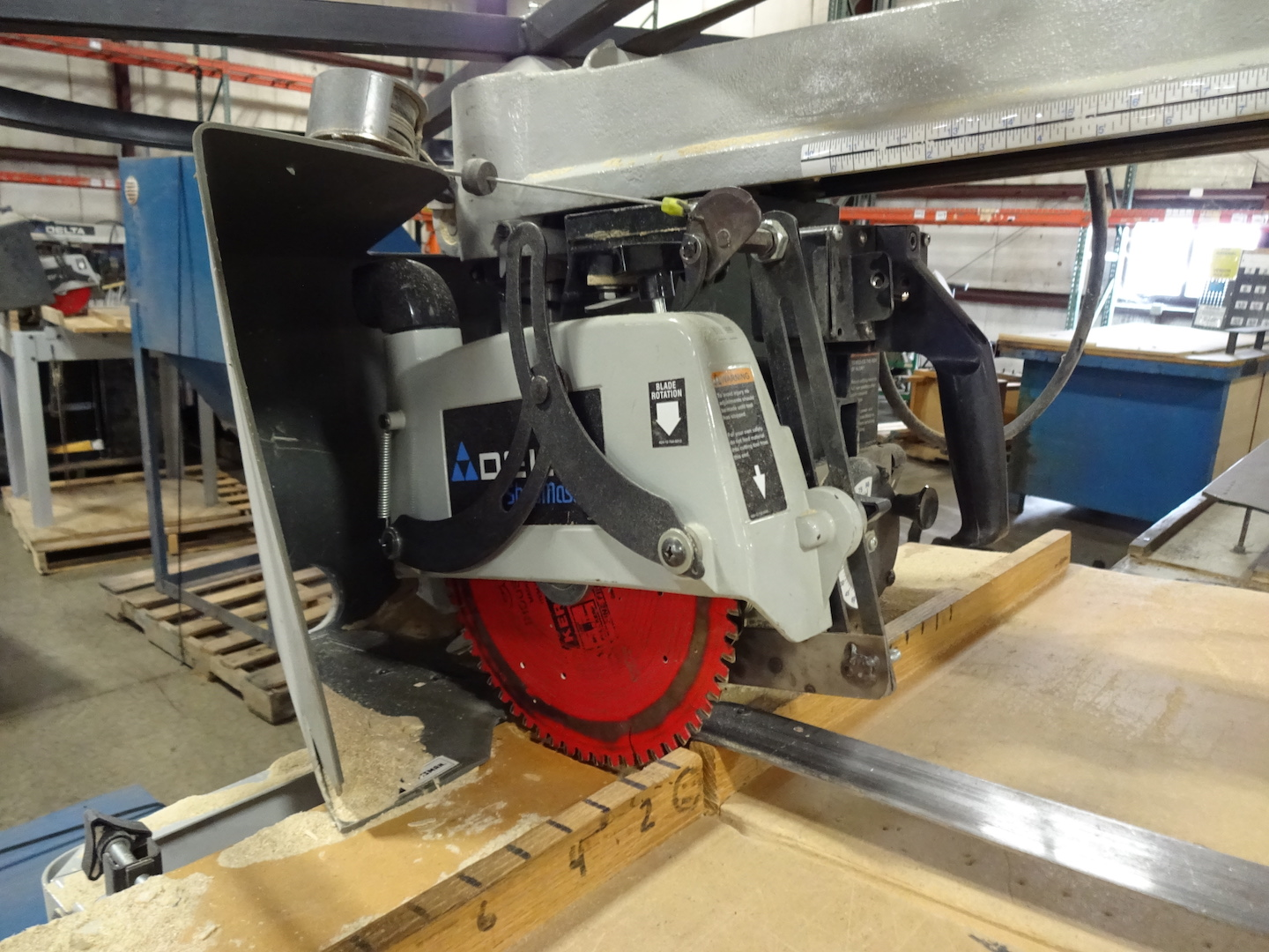 Delta 1-1/2 HP Radial Arm Cut-off Saw, S/N 04184786, 110 Volt - Image 3 of 3