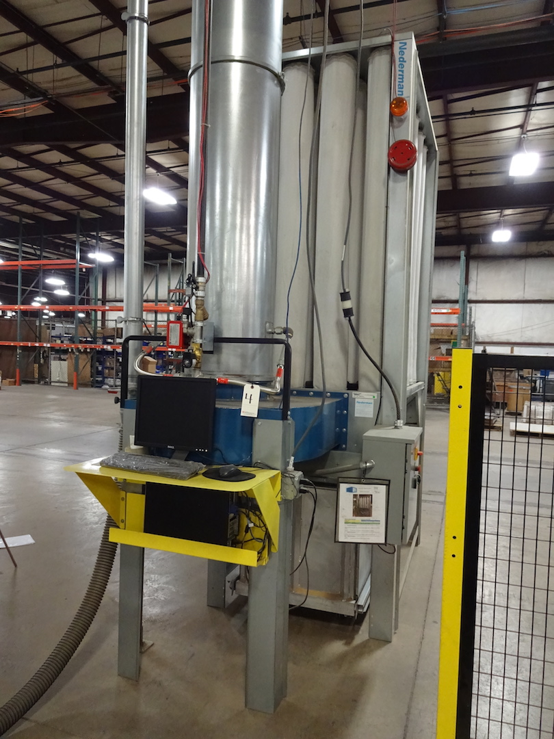 Nederman 10 HP Model NFP-S1000 Bag Type Dust Collector, S/N N112376-01 (2016), with Aluminum - Image 3 of 4