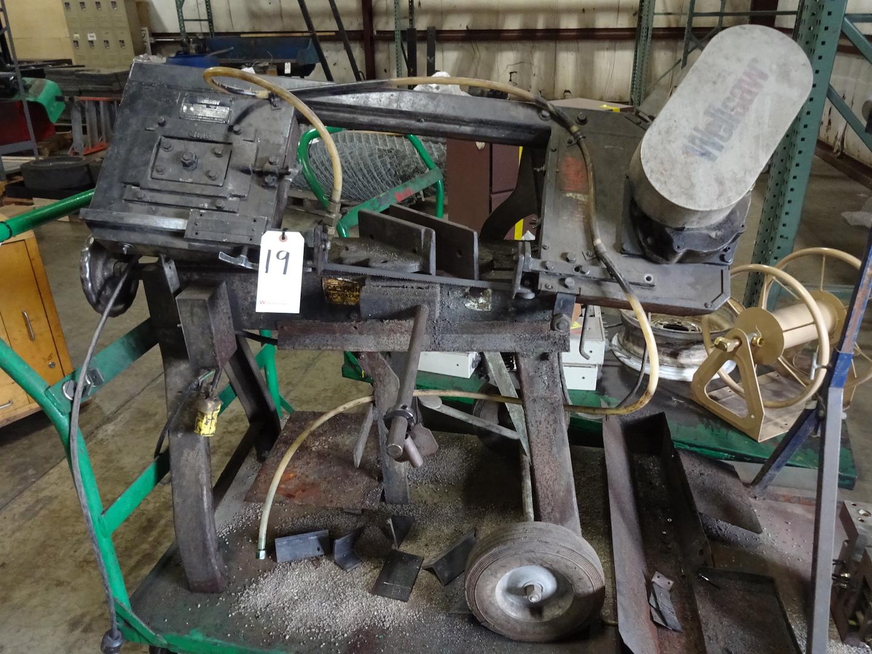 Wellsaw Model 58B Horizontal Metal Cutting Band Saw, S/N 22951