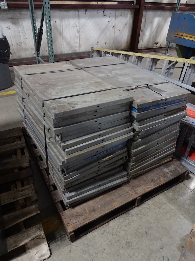 LOT: Steel Shelves on (1) Skid