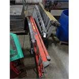 LOT: (3) Assorted Step Ladders & Werner Aluminum Scaffold Stage